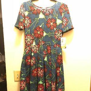 LulaRoe Amelia Disney Dress Size Large Scary Jack